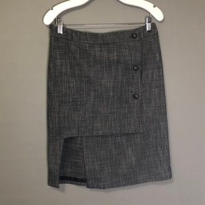 Poleci Pencil Skirt with Leather Buttons